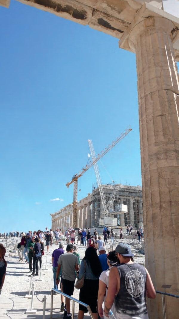 Die Restaurierung der Akropolis in Athen