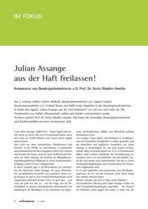 Julian Assange aus der Haft freilassen!